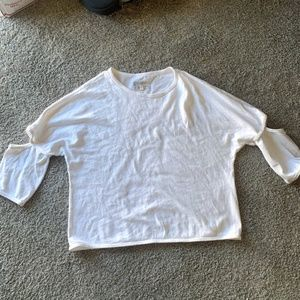 Current Elliott Top Cotton Ivory Easy Cut Out